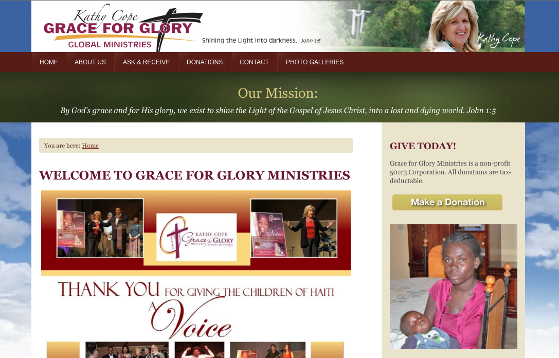 Grace for Glory website