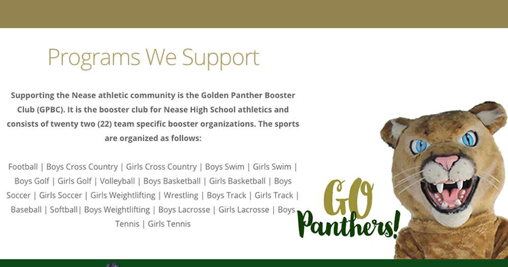 Gold Panther Booster Club